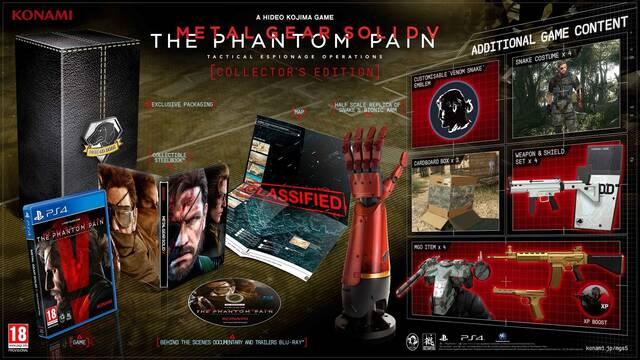 Metal Gear Solid V: The Phantom Pain desvela sus ediciones especiales