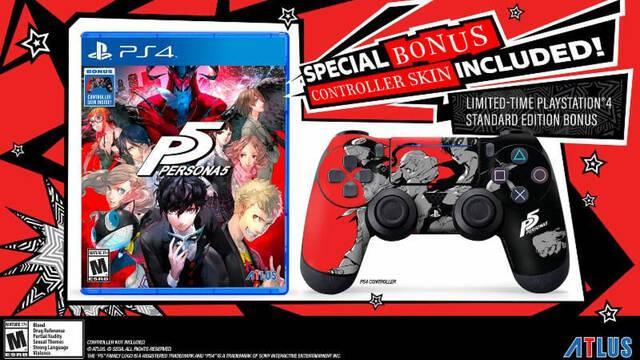 Persona 5 incluirá en EE.UU. un skin para el mando de PS4