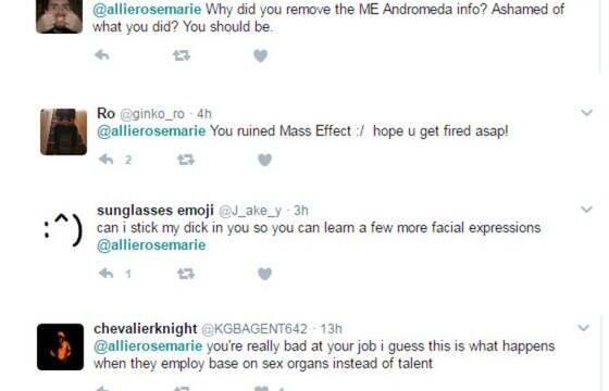 Acosan a una exempleada de EA por las animaciones de Mass Effect: Andromeda