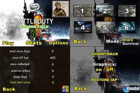 Battle Duty: Modern Field 3 es el sexto juego gratuito de la App Store m�s jugado