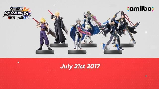 Los amiibo de Cloud y Bayonetta saldrán en julio