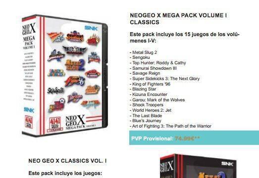 Anunciados los nuevos juegos de Neo Geo X para Espa�a