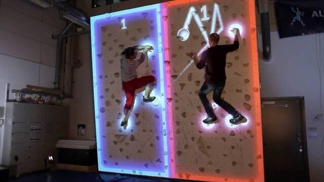 Crean una versión de Pong  que mezcla Kinect con la escalada