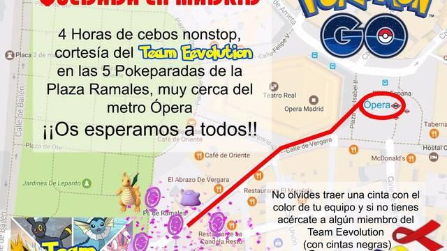El próximo día 13 de mayo se celebrará una quedada de Pokémon GO en Madrid
