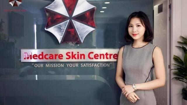 Una clínica estética usa el logo de Umbrella de Resident Evil