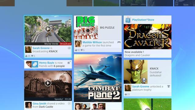 Sony publica nuevas imágenes de la interfaz de PlayStation 4
