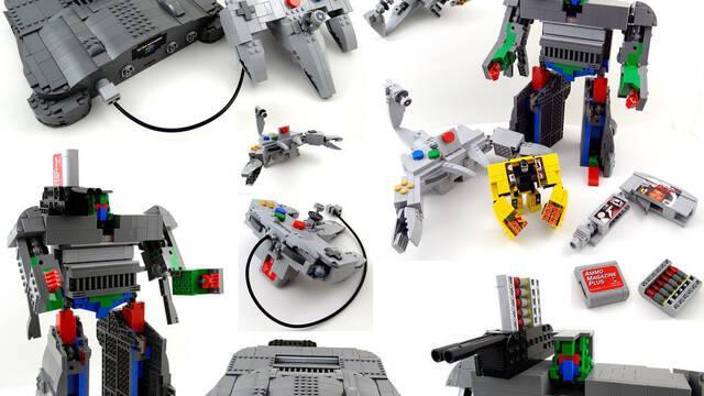 Imaginan unos LEGO Transformers de Nintendo 64