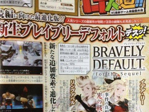 Anunciado Bravely Default: For the Sequel