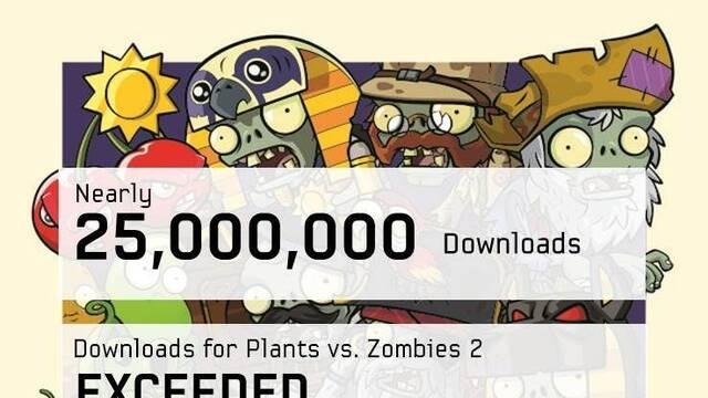 Plants vs. Zombies 2: It's About Time suma casi 25 millones de descargas