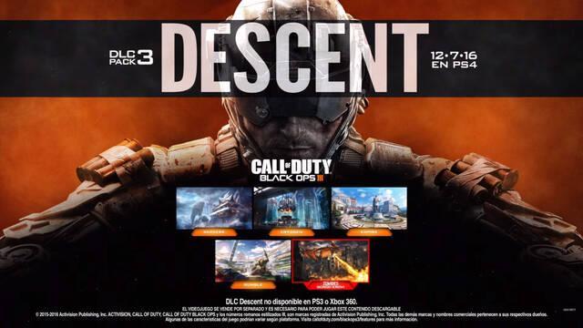 Descent, el tercer DLC de Call of Duty: Black Ops III, ya está disponible en Xbox One y PC