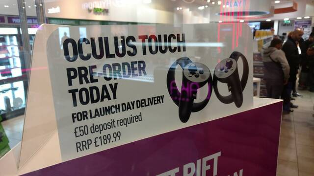 Oculus Touch tendría un precio superior a 220 euros