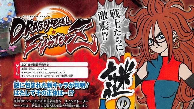 Androide 21, el personaje creado por Toriyama para Dragon Ball FighterZ