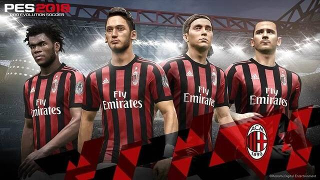 Pro Evolution Soccer 2018 cierra un acuerdo con el AC Milan