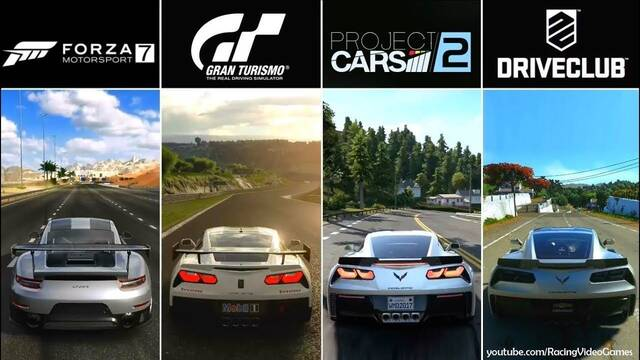 Comparativa: Forza 7 vs Gran Turismo Sport vs Project CARS 2 vs DriveClub