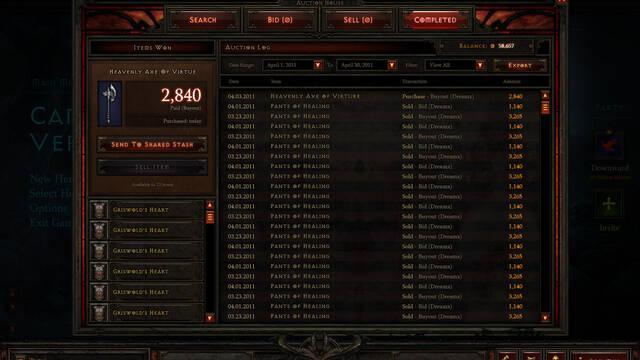 Primeras im�genes y detalles del funcionamiento de la subasta de Diablo III