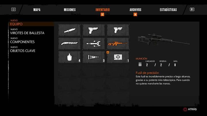Rifle de precisión The Evil Within 2