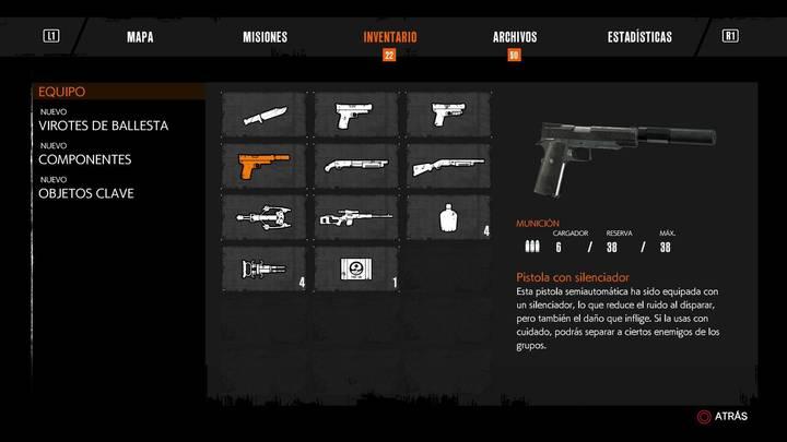 Pistola con silenciador - The Evil Within 2