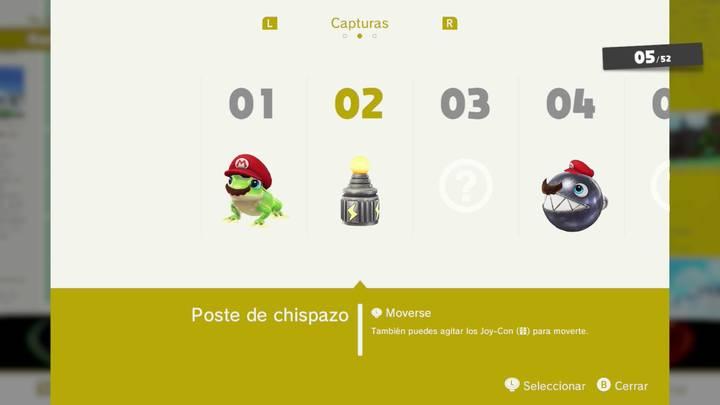 Poste de chispazo - Super Mario Odyssey