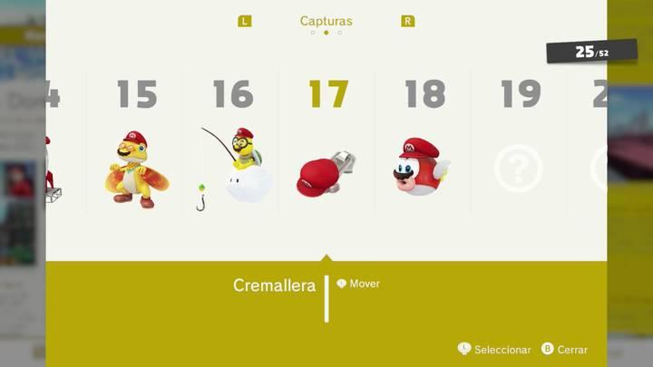 Cremallera - Super Mario Odyssey