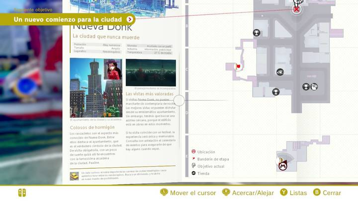 Nueva Donk Reino Urbano Super Mario Odyssey