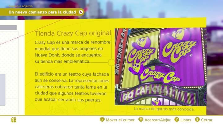 Tienda Crazy Cap original Reino Urbano Super Mario Odyssey