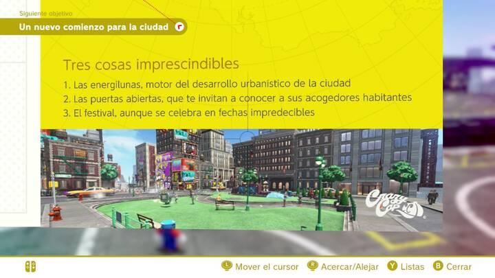 Tres cosas imprescindibles Reino Urbano Super Mario Odyssey