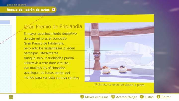 Gran premio de Friolandia Reino del Hielo Super Mario Odyssey
