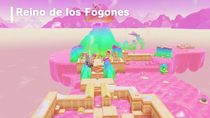 Cocina al volcán Reino de los Fogones Super Mario Odyssey