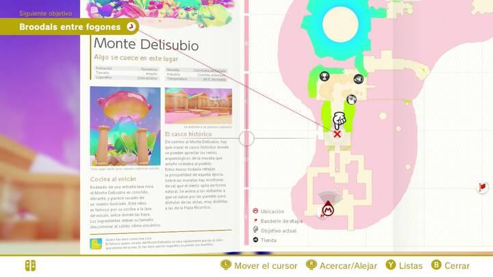 El casco histórico Reino de los Fogones Super Mario Odyssey