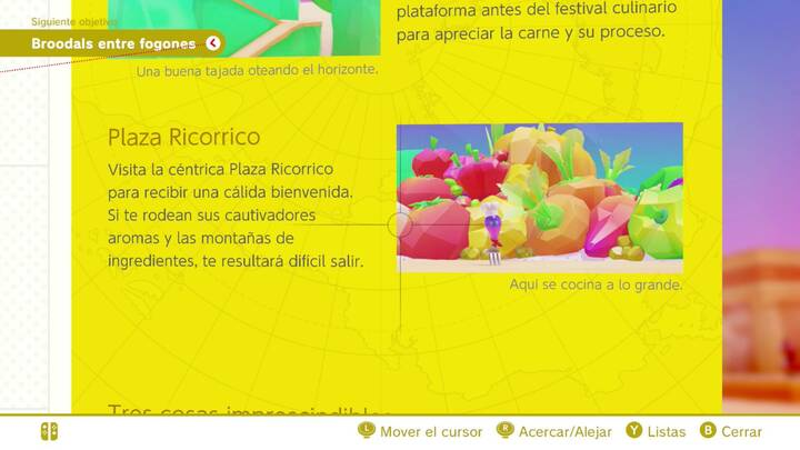 Plaza Ricorrico Reino de los Fogones Super Mario Odyssey