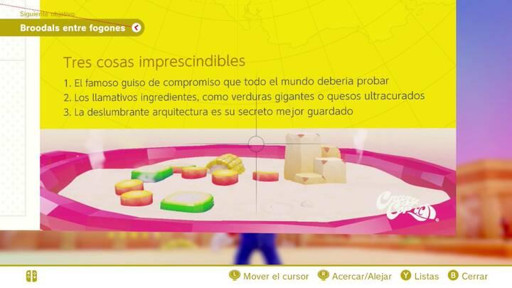 Tres cosas imprescindibles Reino de los Fogones Super Mario Odyssey