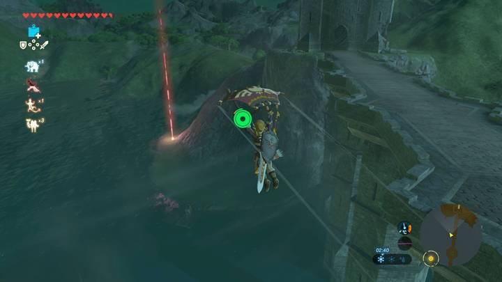 Casco de buceador Lago Hylia - Nueva misión Xenoblade Chronicles 2 en Zelda: Breath of the Wild