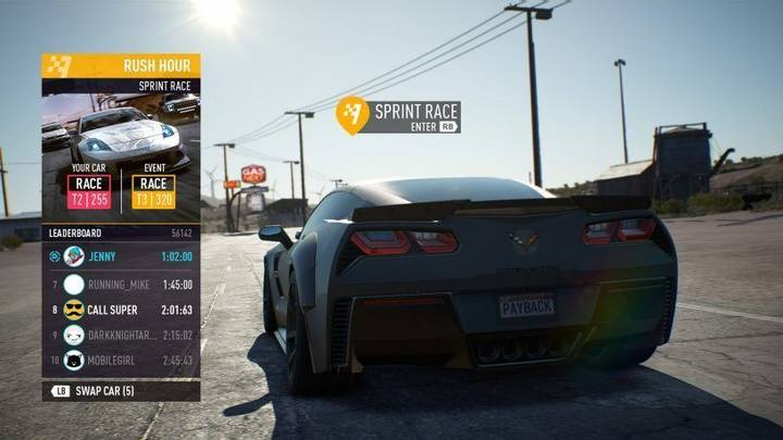 Tipos de conducción Need for Speed Payback