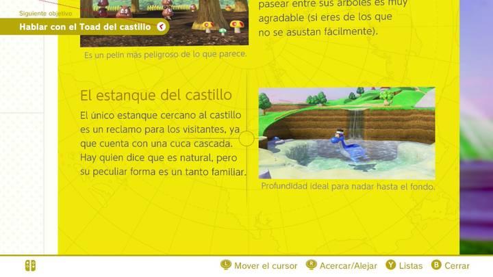 El estanque del castillo Reino Champiñón Super Mario Odyssey