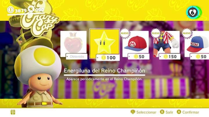 Energiluna 20 del Reino Champiñón Super Mario Odyssey