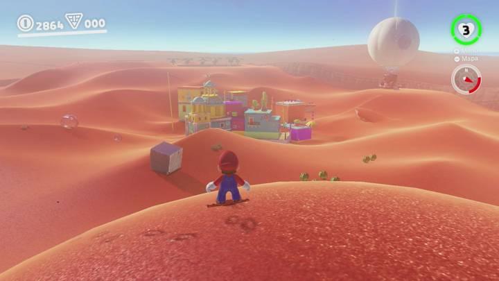 Roca lunar Reino de las Arenas Super Mario Odyssey