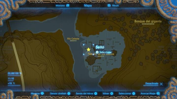 Localización Casco de Midna Zelda Breath of the Wild