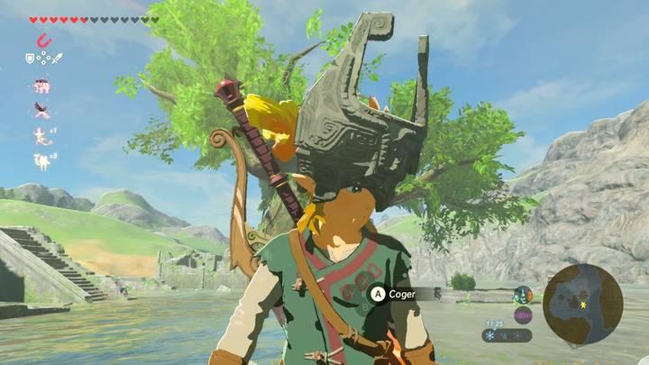 Link con el Casco de Midna Zelda Breath of the Wild