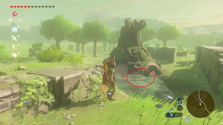 Localización del traje de Tingle en Zelda Breath of the Wild