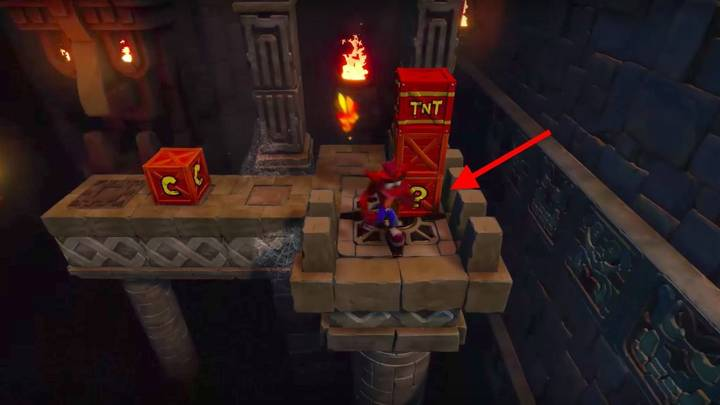 Segundo nivel secreto Crash Bandicoot Cabeza 1