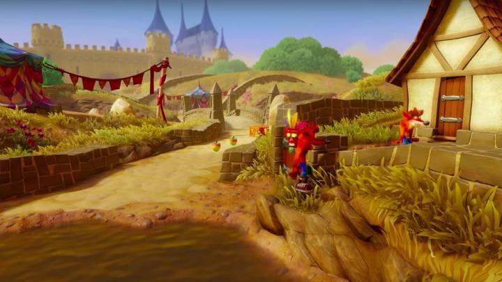 Fake Crash en Crash Bandicoot 3 Toad Village