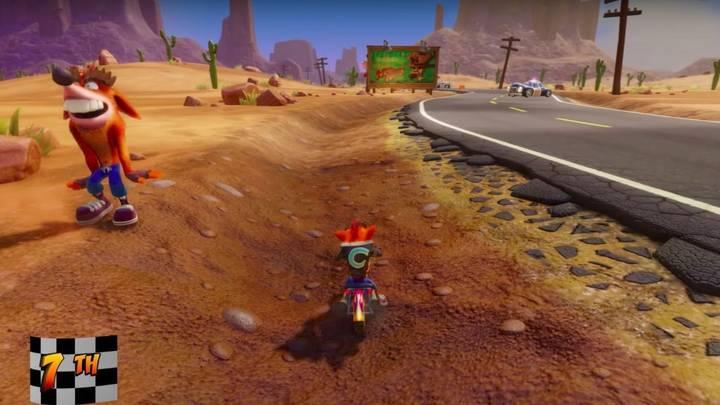 Fake Crash en Crash Bandicoot 3 Hog Ride
