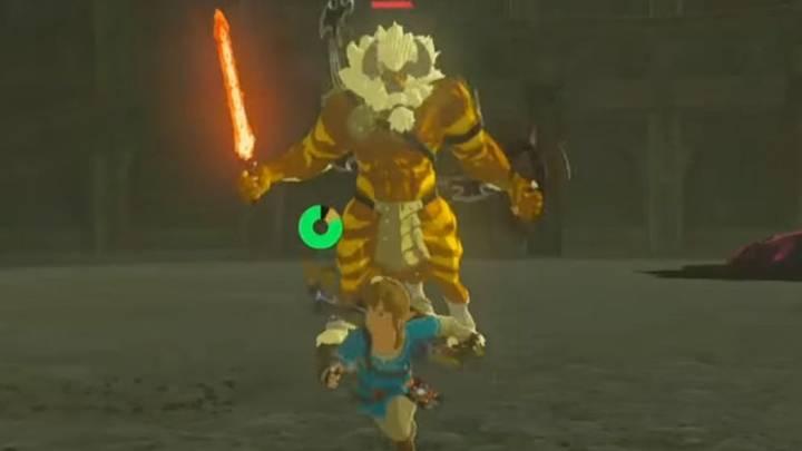 Link contra un Centaleón dorado