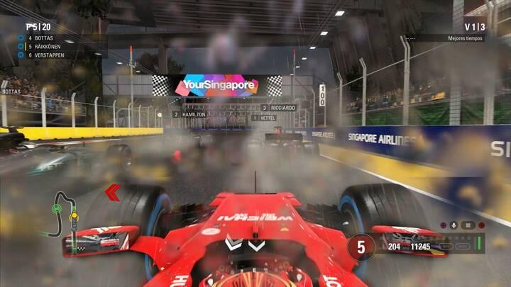 Lluvia y trazada F1 2017