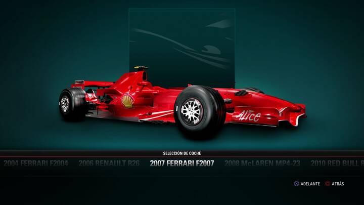 F1 2017 Ferrari F2007 de 2007