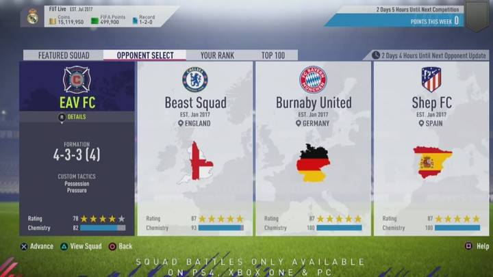 Squad Battle FUT