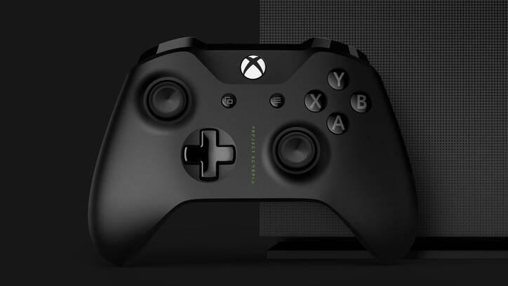 El mando de Xbox One X, con Project Scorpio inscrito