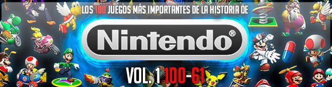 Los 100 juegos más importantes de la historia de Nintendo Vol. 1 (100-61)