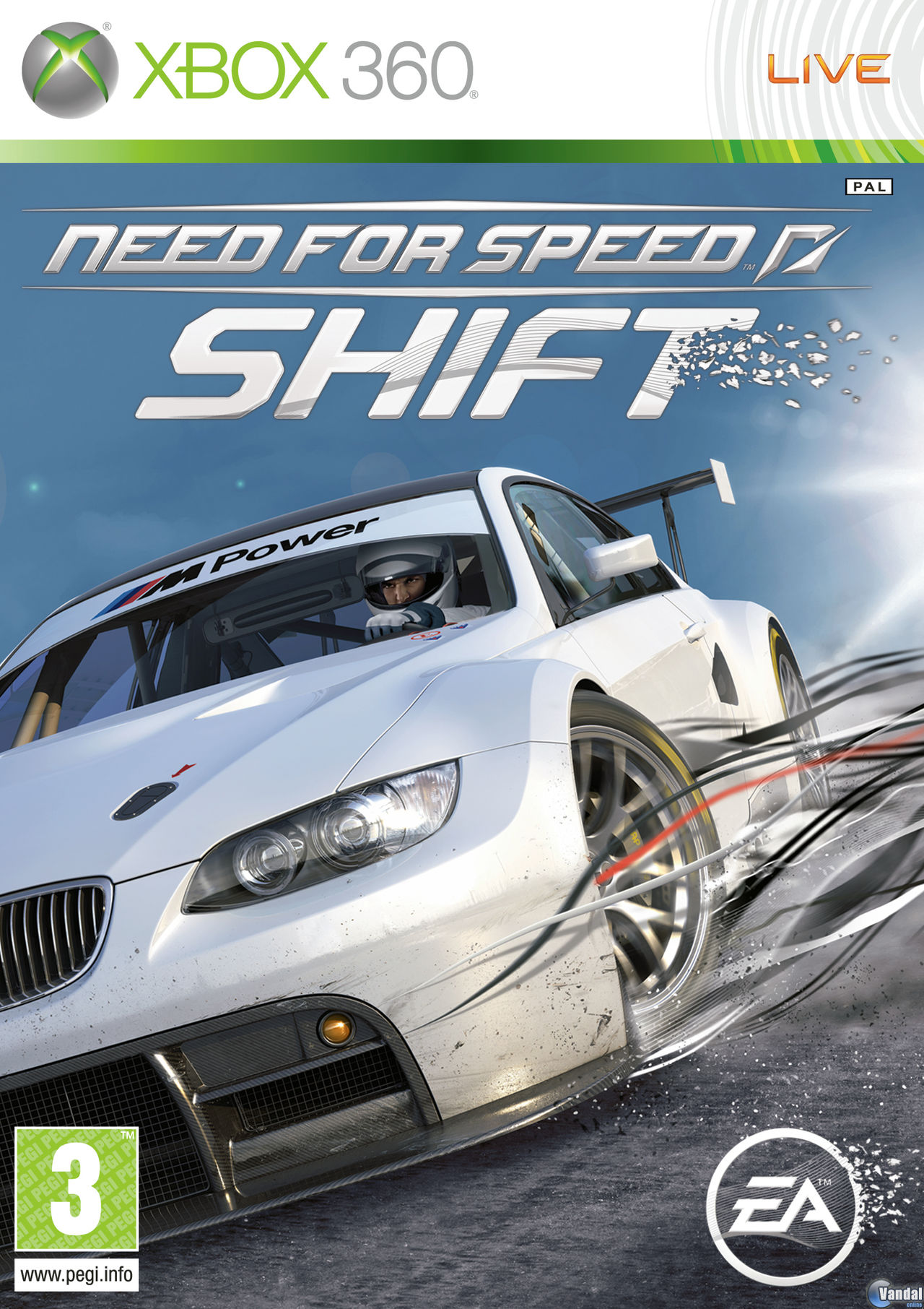 Car�tula Need for Speed Shift Xbox 360