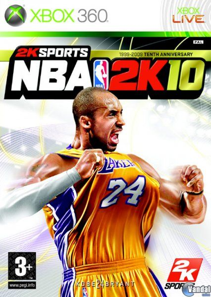 Cartula NBA 2K10 Xbox 360